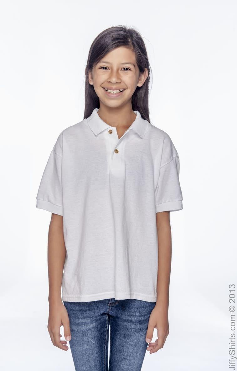 19fb0a2fa Gildan G880B Youth 6 oz., 50/50 Jersey Polo - JiffyShirts.com