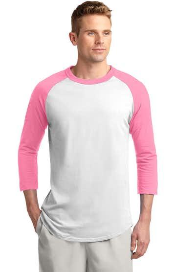 Sport-Tek T200J1 White / Bright Pink