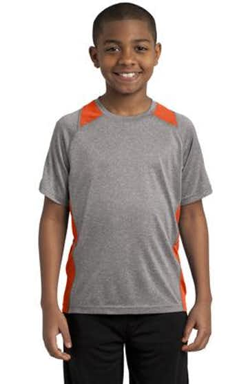 Sport-Tek YST361 Vintage Heather / Deep Orange
