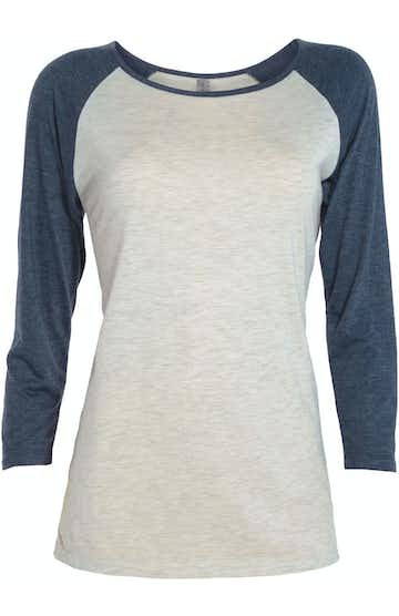 Platinum P508T Oatmeal Heather / Navy Heather
