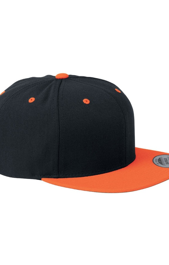 Yupoong 6089 Black/Neon Orange