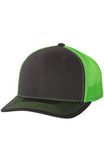 Richardson 112 Charcoal / Neon Green