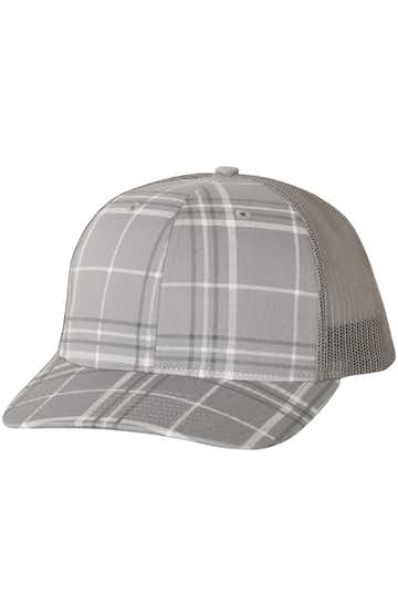 Richardson 112P Plaid Print Grey/ Charcoal/ Charcoal