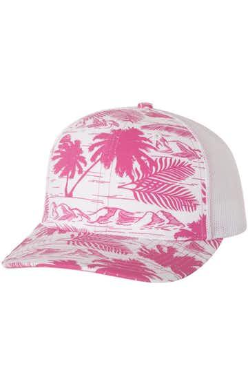 Richardson 112P Island Print Pink/ White