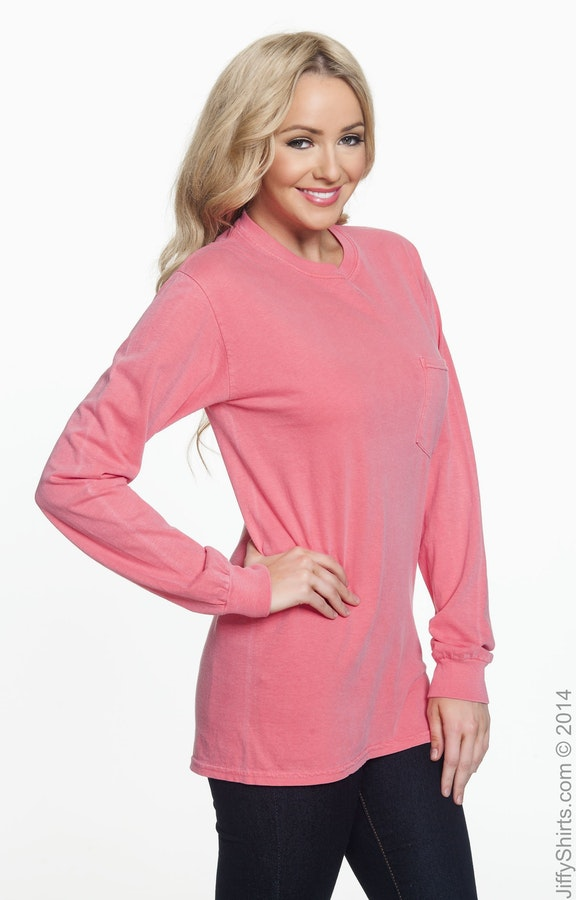 37551956160a Comfort Colors C4410 Adult Heavyweight RS Long-Sleeve Pocket T ...
