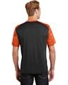 Sport-Tek ST371 Black / Neon Orange
