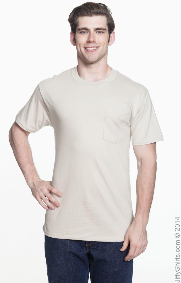 99eecb5a Hanes 5190P Adult 6.1 oz. Beefy-T® with Pocket - JiffyShirts.com