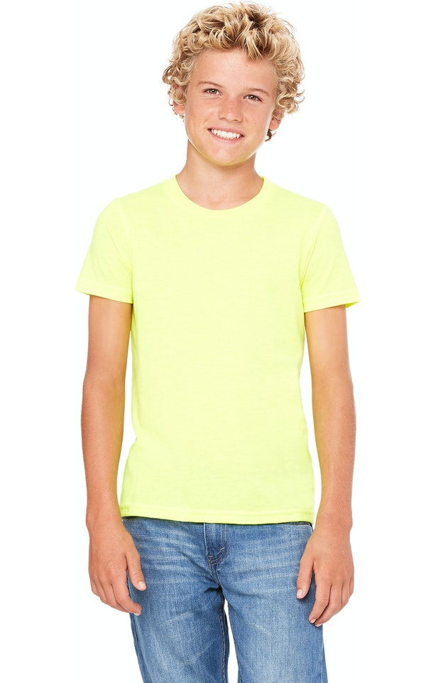 Bella + Canvas 3001Y Neon Yellow