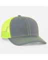 Pacific Headwear 0104PH Graphite/Neon Yellow