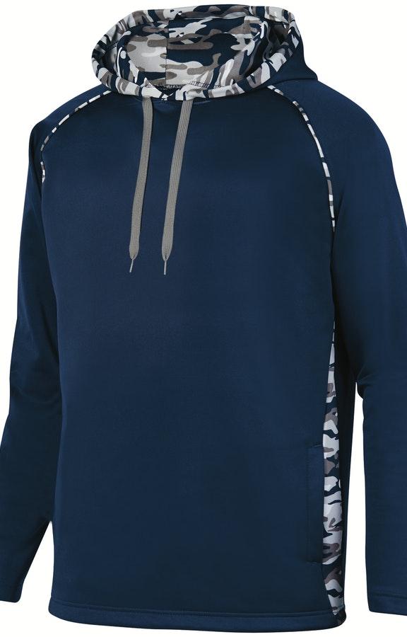 92e288af5 Augusta Sportswear 5538 Navy/ Navy Mod Adult Mod Camo Hooded Pullover  Sweatshirt