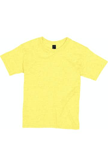Hanes H420Y Neon Lemon Heather