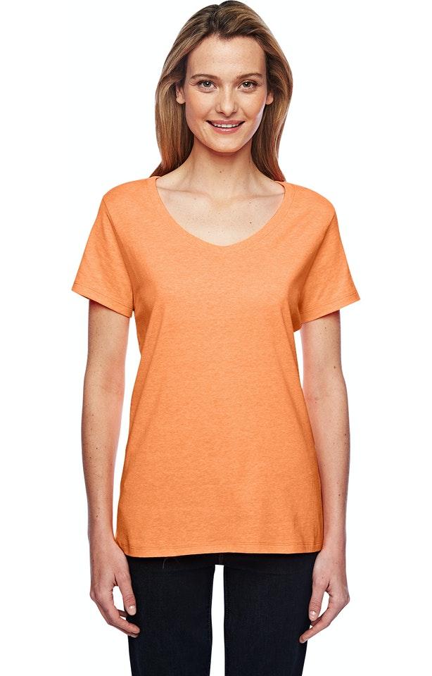 Hanes 42V0 Neon Orange Heather