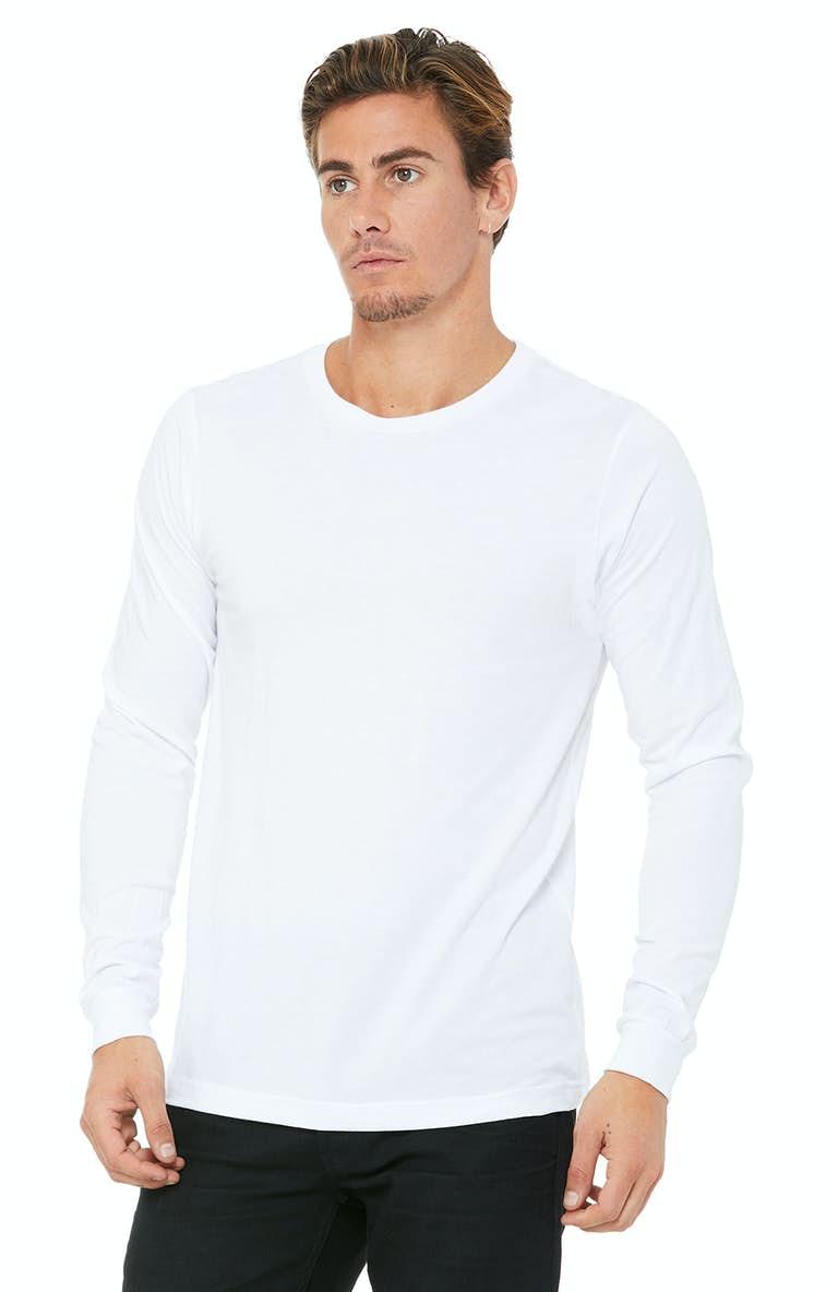 2dc56803f Bella+Canvas 3501 Unisex Jersey Long-Sleeve T-Shirt - JiffyShirts.com
