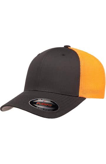 Flexfit 6511 Charcoal/ Neon Orange