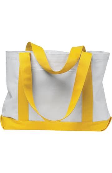 Liberty Bags 7002 White/Yellow