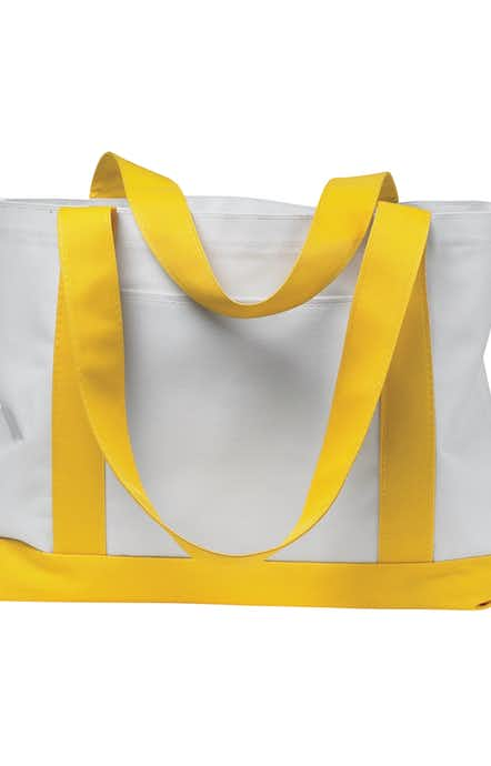 Liberty Bags 7002 White/Yellow
