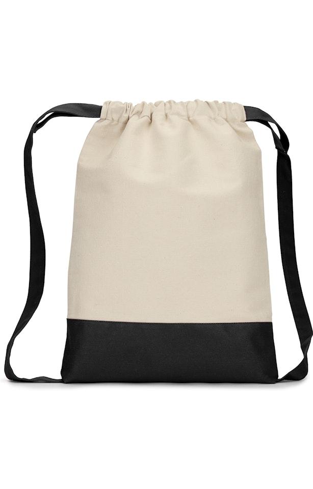 Liberty Bags 8876 Natural/ Black