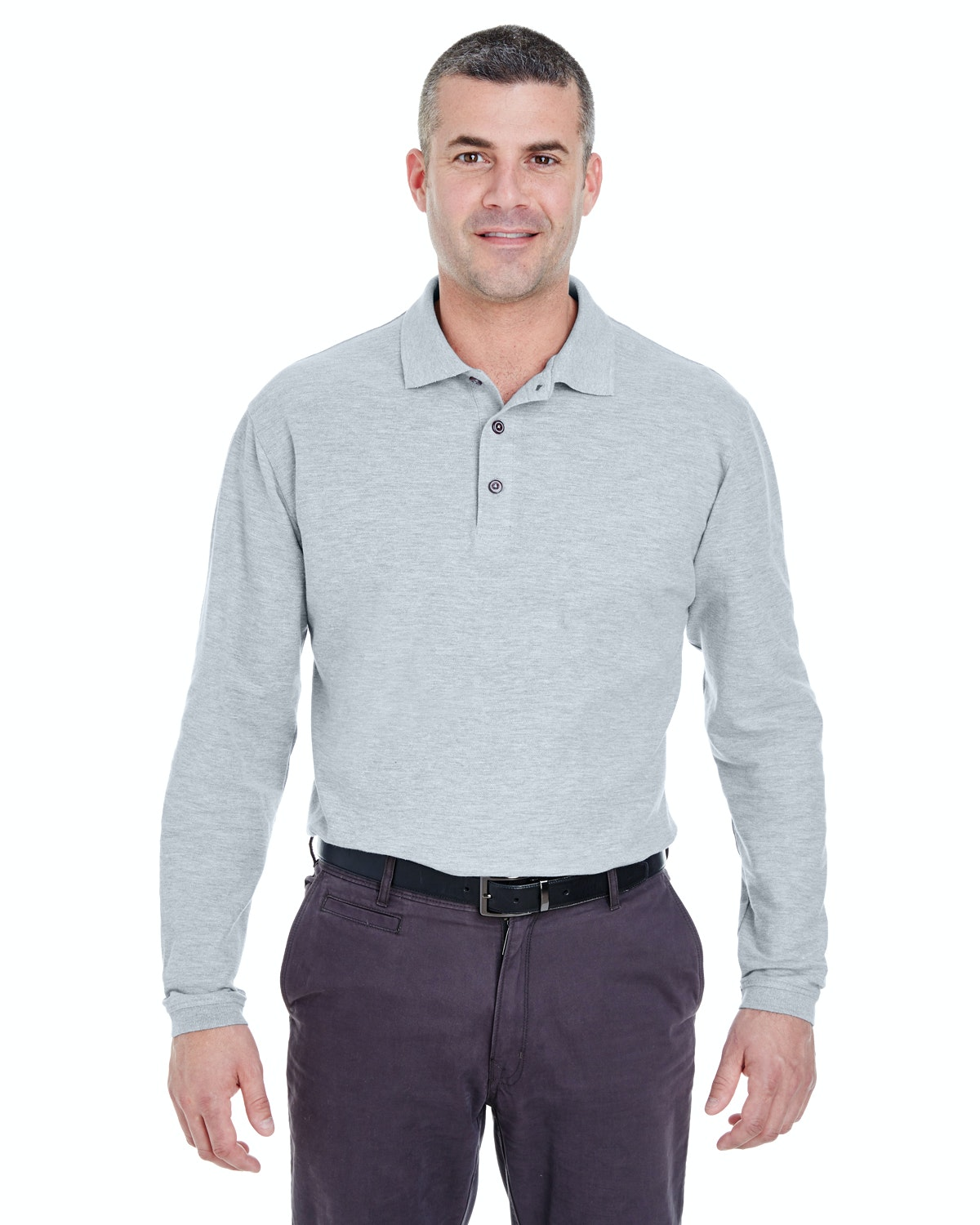 UltraClub 8542 Heather Grey