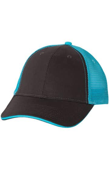 Valucap S102 Charcoal / Neon Blue