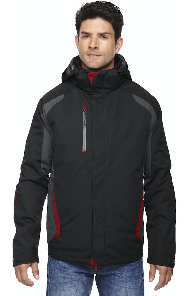 Ash City - North End 88195 Black/Classic Red