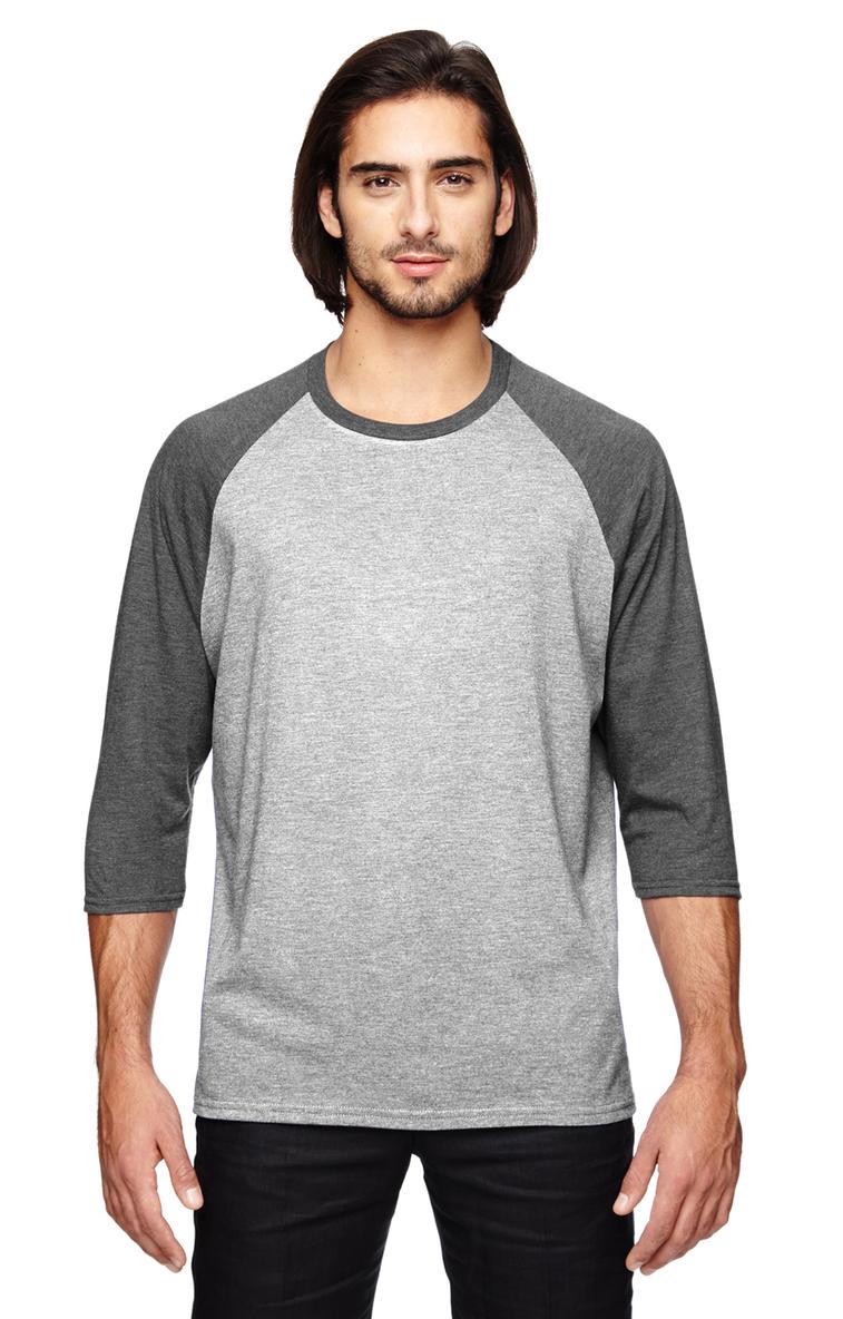 215e2e0b2 Anvil 6755 Adult Triblend 3 4-Sleeve Raglan T-Shirt - JiffyShirts.com