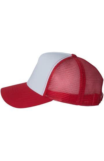 Mega Cap 6886 White / Red