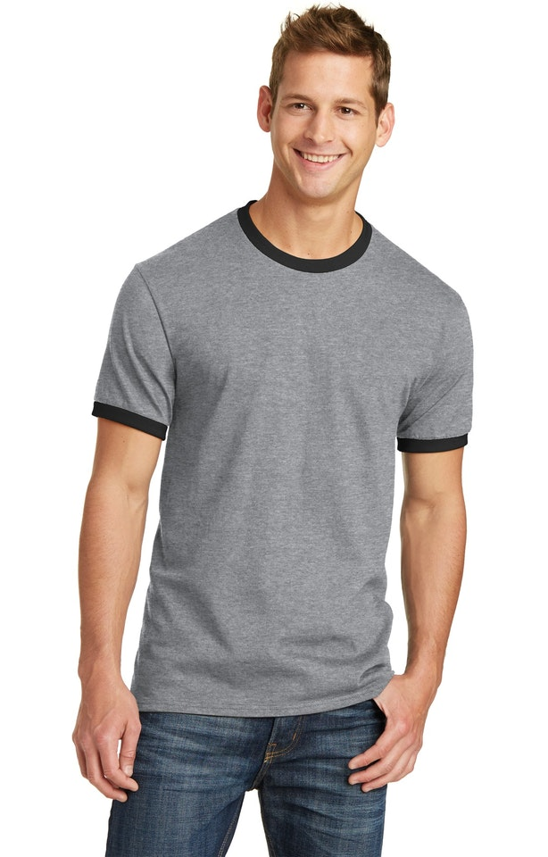 Port & Company PC54R Athletic Heather / Jet Black