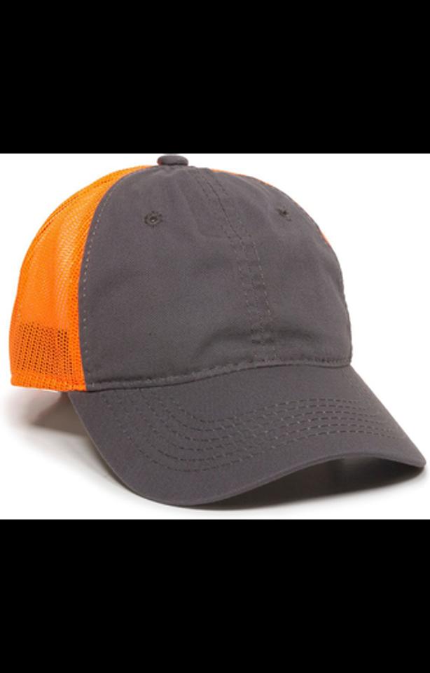 Outdoor Cap FWT-130 Charcoal / Neon Orange