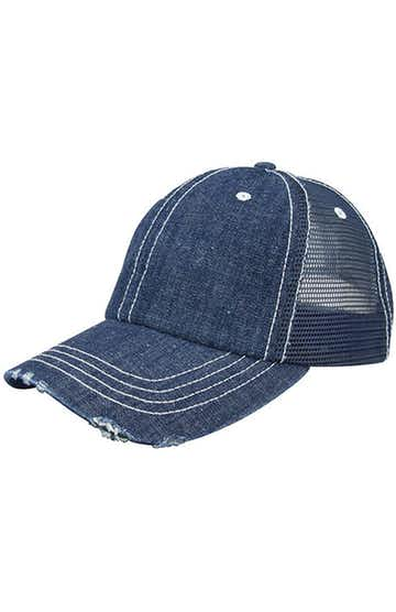 Mega Cap 6990B Navy Denim / White