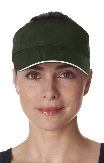 a210b0a0168 Adult Unisex Classic Cut Chino Cotton Twill Visor. Preview Colors