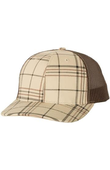 Richardson 112P Plaid Print Khaki/ Black/ Brown