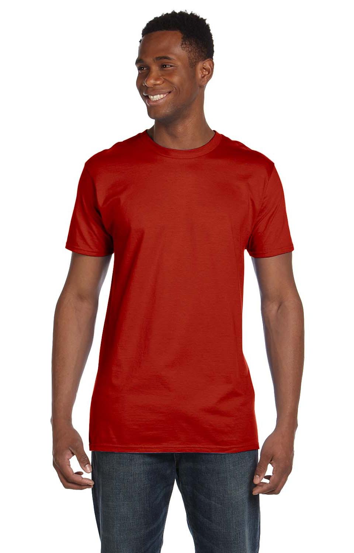4980 Hanes Unisex 4.5 oz 100/% Ringspun Cotton Nano-T-Shirt