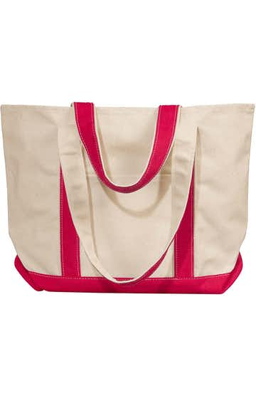 Liberty Bags 8871 Natural/Red