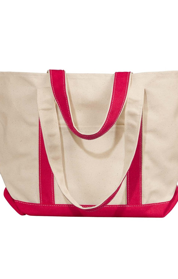 Liberty Bags 8871 Natural/Red