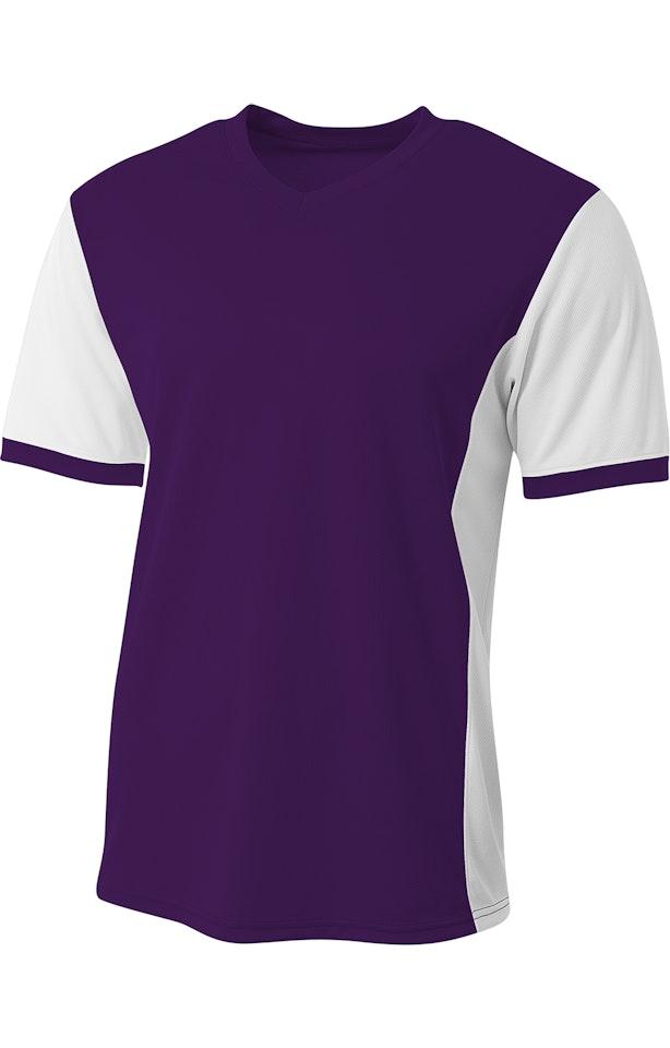 A4 B017AR Purple / White