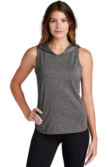 Sport-Tek LST410 Black / Dark Gray Heather