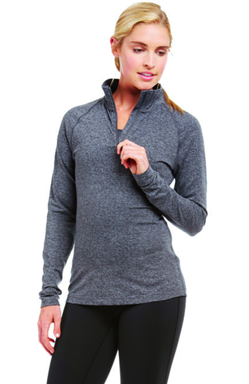 Soffe S2995VP Gray Heather / Black