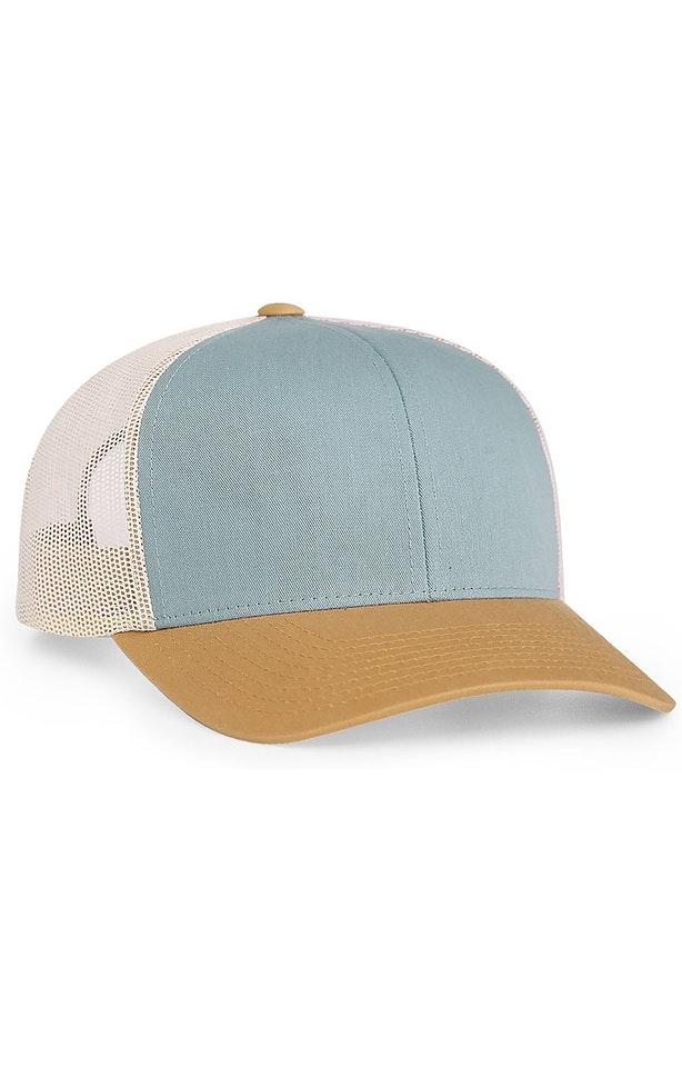 Pacific Headwear 0104PH Smoke Blue/Amber Gold/Beige