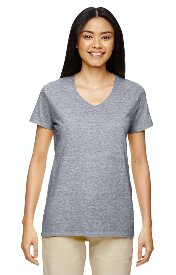 9b3d700fcb Gildan G500VL Ladies' Heavy Cotton™ 5.3 oz. V-Neck T-Shirt ...