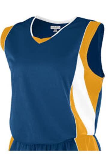 Augusta Sportswear 515 Navy/Gold/White
