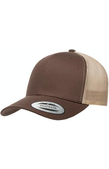 Yupoong 6606 Brown/Khaki