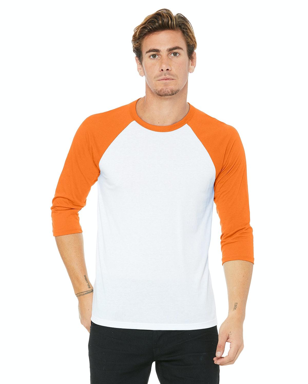 Bella+Canvas 3200 White/Neon Orange