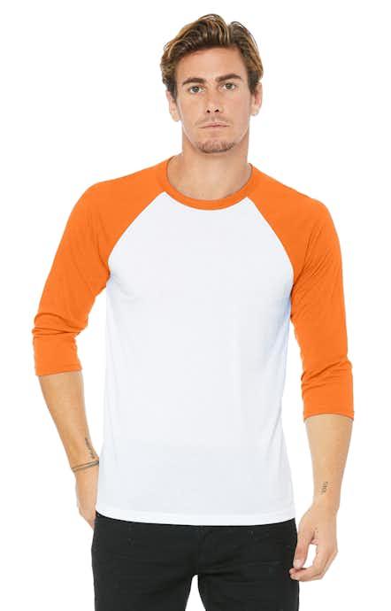 Bella+Canvas 3200 White / Neon Orange