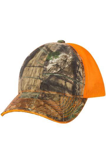 Outdoor Cap CGWM301 Mossy Oak Country / Neon Orange