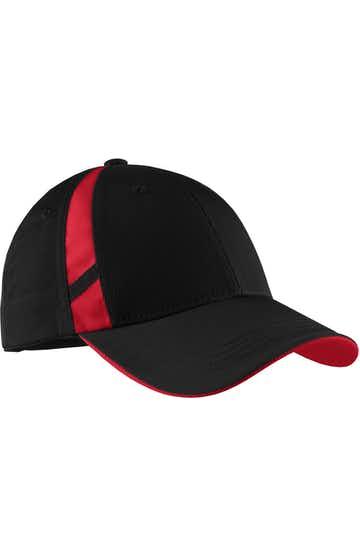Sport-Tek STC12 Black / Teal Red