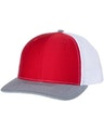 Richardson 112 Red / White / Heather Gray