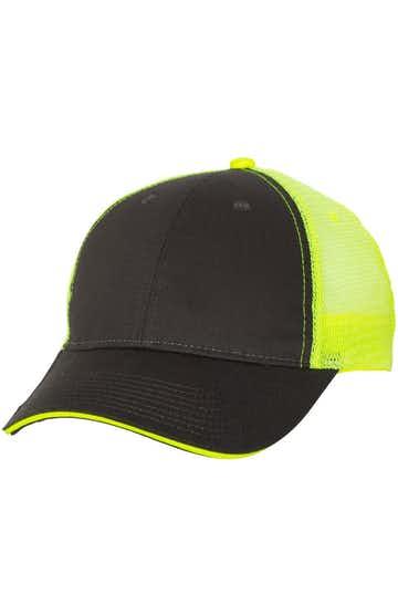 Valucap S102 Charcoal / Neon Yellow