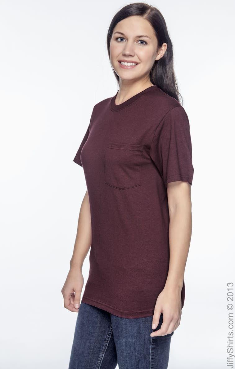 8926311f Fruit of the Loom 5930P Adult 50/50 Best Pocket T-Shirt - JiffyShirts.com