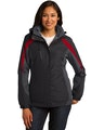 Port Authority L321 Black / Mg Gray / Red