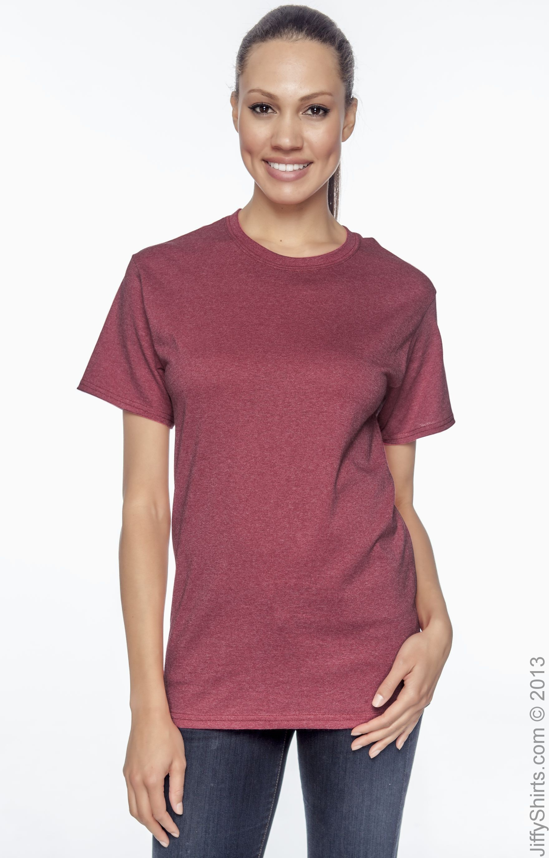 Hanes 5170 Heather Red